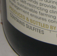 Backlabelcontainssulfites