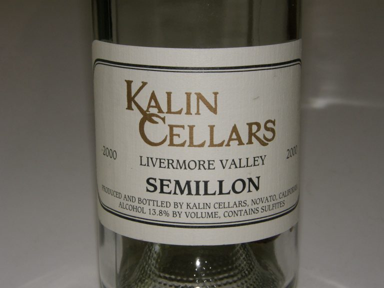 Must-Try Wine of Week: 2000 Kalin Cellars Livermore Valley Semillon