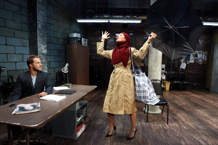 Graham Hamilton and Jaimi Paige in South Coast Repertory's 2014