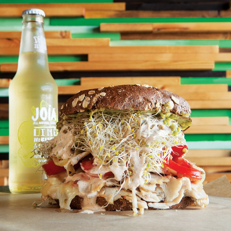 Top seller is the Meddock Melee: roast turkey, Swiss, guacamole, shaved onions, and adobo buttermilk dressing on a toasted roll.