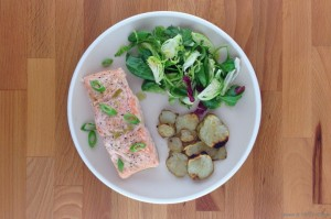 Spoon & Skillet ginger-steamed salmon
