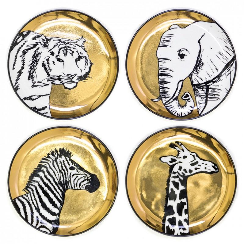 Set of four Anamalia Coasters,  Jonathan Adler, $78, Jonathan Adler, Fashion Island, 949-759-0017