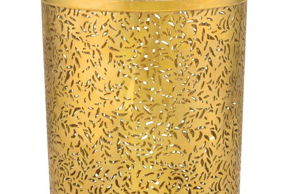 Feuillage Photophore bronze candle holder, $150, Diptyque,  South Coast Plaza, 714-850-9995