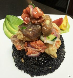 MAR DTSA black ahi salmon shrimp