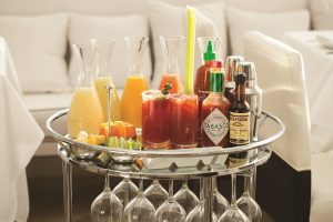 FIG & OLIVE Bloody Mary Cart
