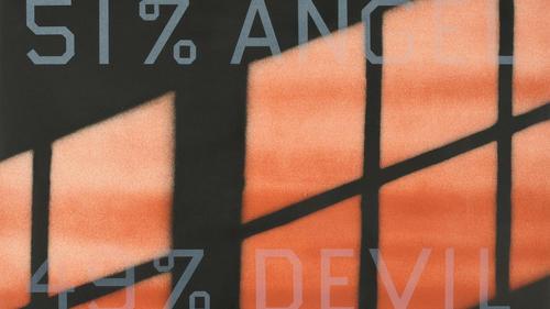 """""""51% Angel/49% Devil"""" by Edward Ruscha"""