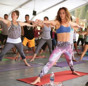 Yoga at Wanderlust Festival