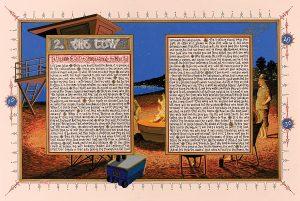 "Sandow Birk, ""American Qur'an, Sura 2 A,"""
