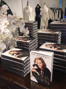 "A stack of Donna Karan's new autobiography, ""My Journey"" at A'Maree's in Newport Beach.  JULIE GALLEGO"