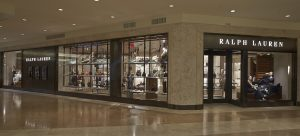 The exterior of the Ralph Lauren boutique at South Coast Plaza.