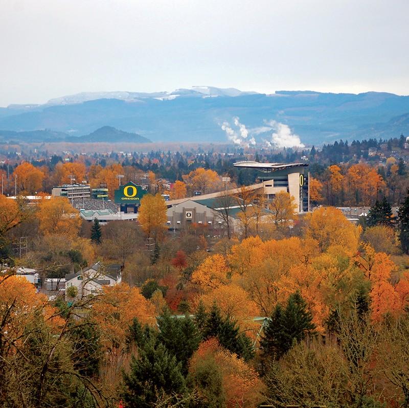 The University of Oregon.