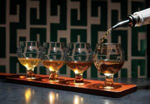 Macallan's Public House  Whiskey flight