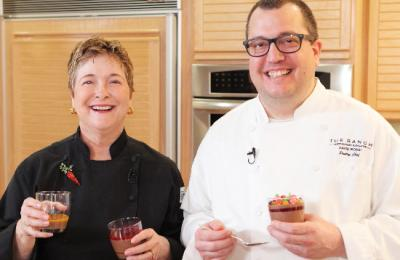 Chef David Rossi makes Panna Cotta with Cathy Thomas
