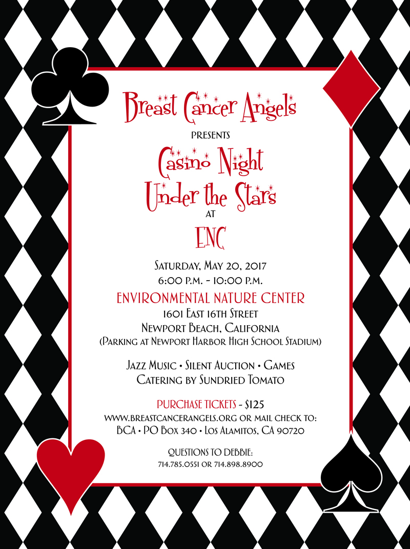 Breast Cancer Angels Presents Casino Night Under the Stars at ENC ...