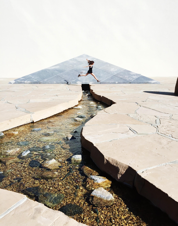 "California Scenario"" by Isamu Noguchi for Isamu Noguchi Sculpture Garden  34eri"
